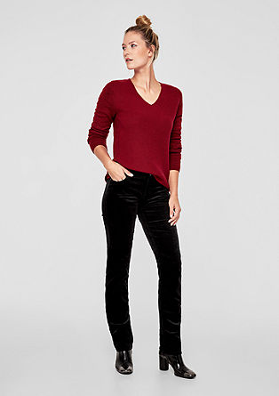 Shape Slim: needlecord trousers from s.Oliver