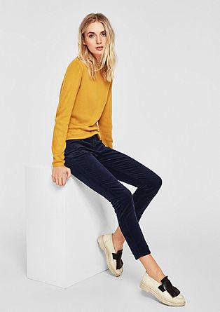 Shape Ankle: kalhoty zjemného manšestru