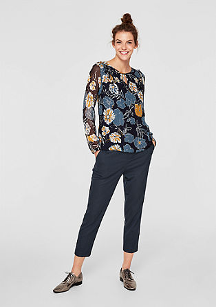 Shape Ankle: Patterned cloth trousers from s.Oliver