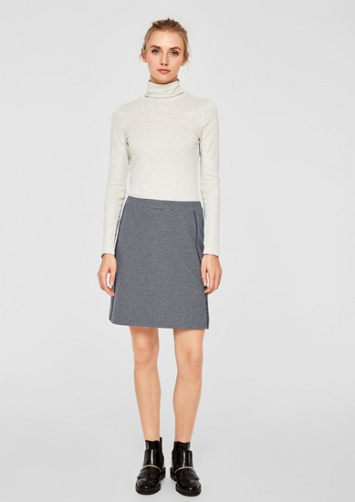 Interlock jersey stretch skirt from s.Oliver