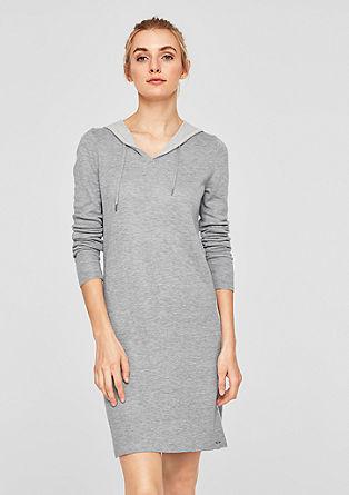 Hoodie-Kleid aus Doubleface-Strick