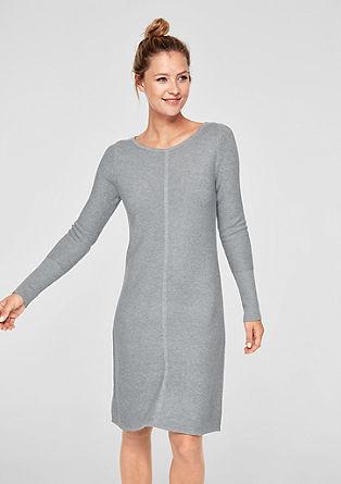 Pletené šaty se strukturovaným vzorem