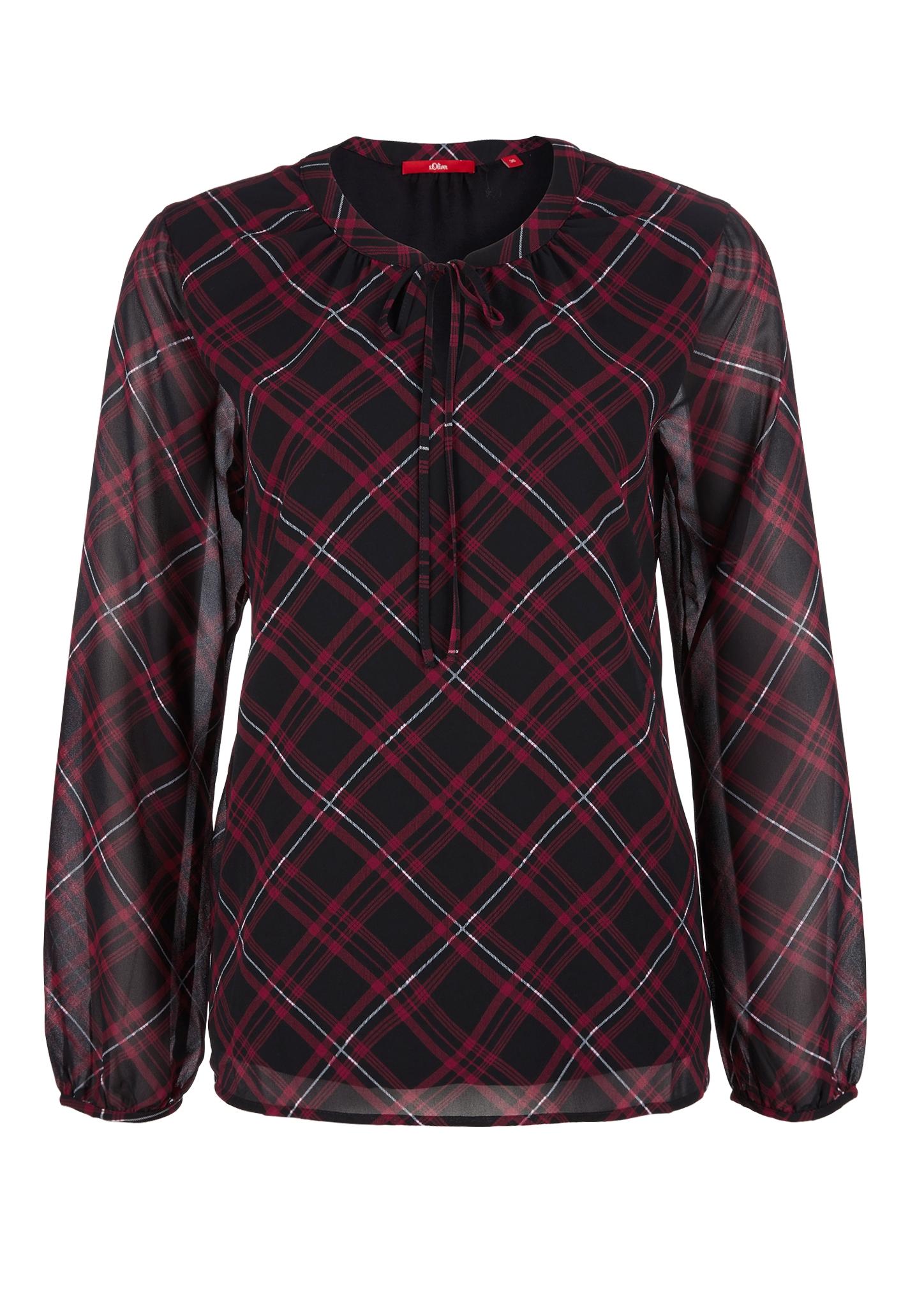 Chiffon-Blusenshirt | Bekleidung > Blusen > Chiffonblusen | Rot | Obermaterial 100% polyester| futter 100% viskose | s.Oliver