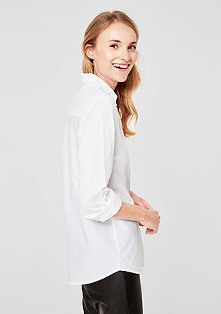 Blouse with turn-up sleeves from s.Oliver