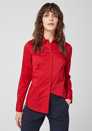 Classic stretch cotton blouse from s.Oliver