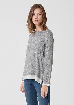 Langarmshirt im Double-Layer-Look