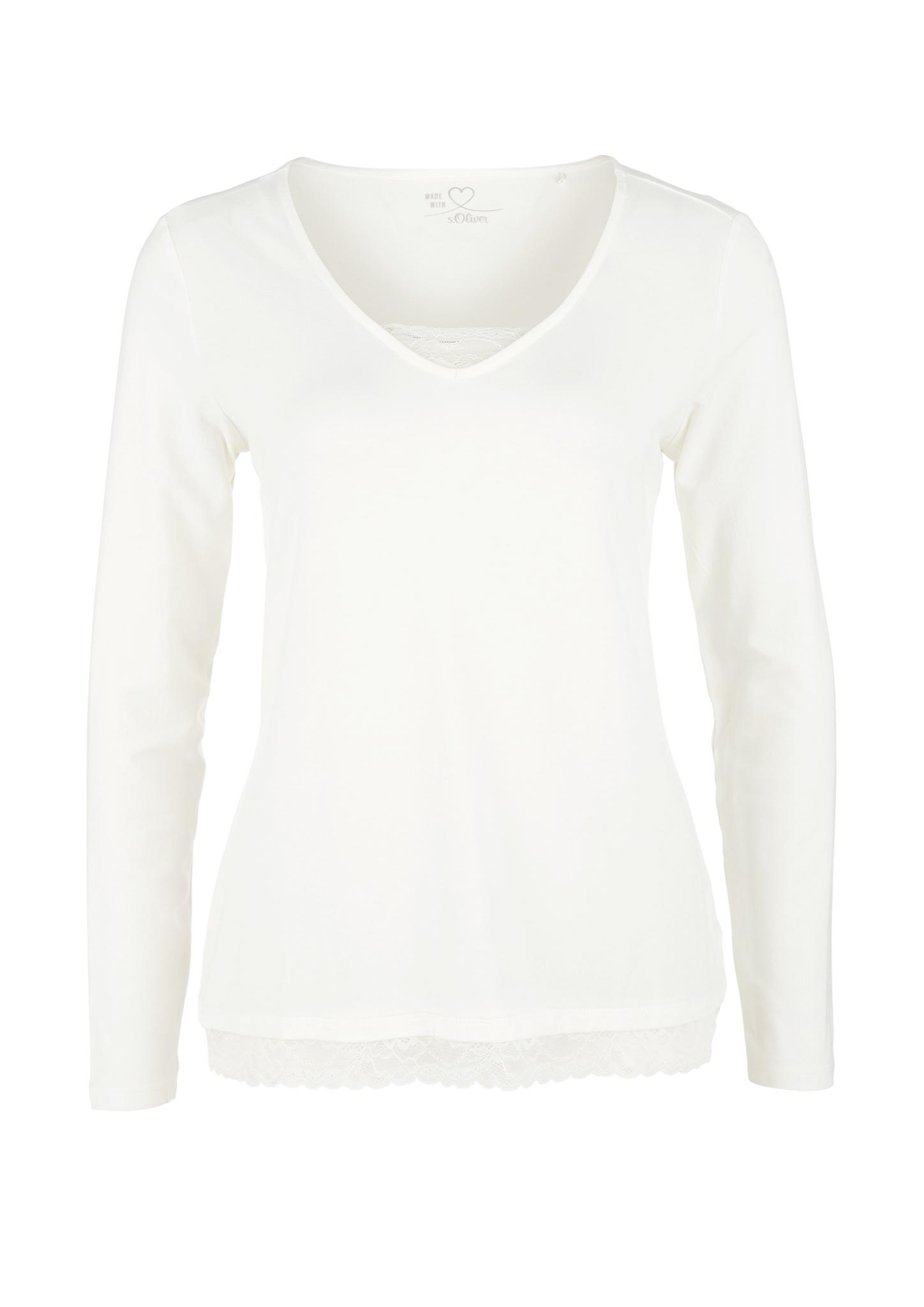 Spitzenshirt | Bekleidung > Shirts > Spitzenshirts | Weiß | 95% viskose -  5% elasthan | s.Oliver
