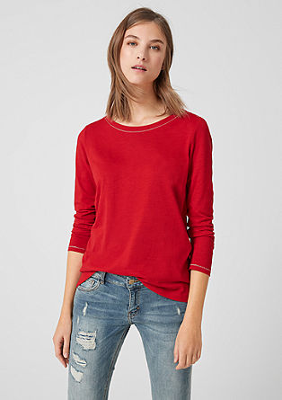 Melange long sleeve top with lurex details from s.Oliver