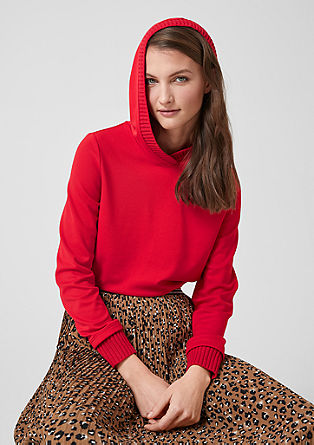 Sweatshirt with rib knit accents from s.Oliver