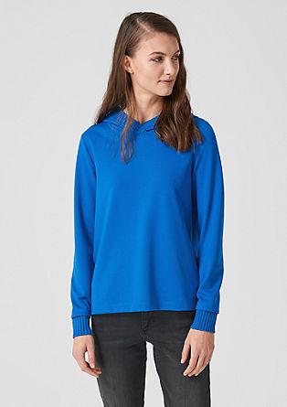 Sweatshirt mit Rippstrick-Akzenten