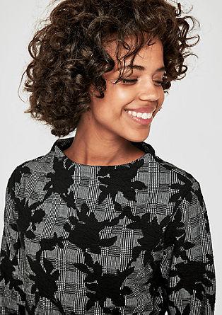 High Neck-Sweater aus Interlock