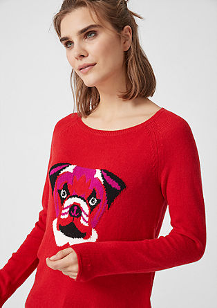 Knit jumper with lettering from s.Oliver