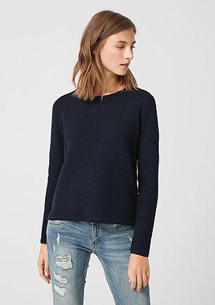 Pullover mit Rippmuster