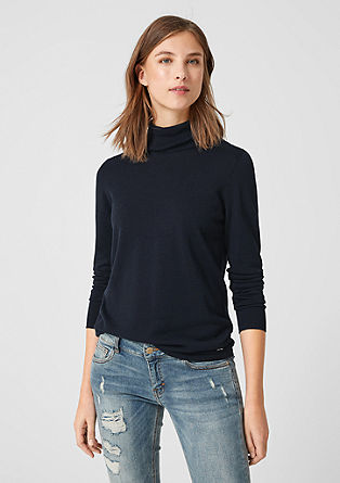 Basic pulover s puli ovratnikom
