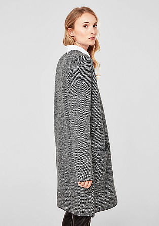 Long cardigan with wool from s.Oliver