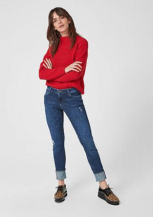 Shape superskinny: jeans met een used look