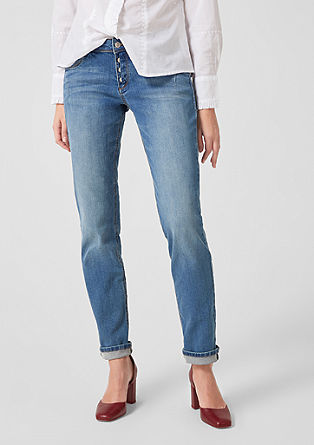 Shape Slim: Denim mit Knopfleiste