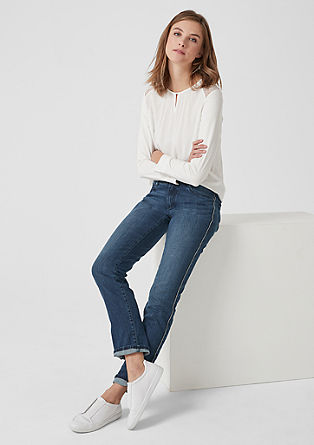 Shape Slim: Jeans with glittering piping from s.Oliver