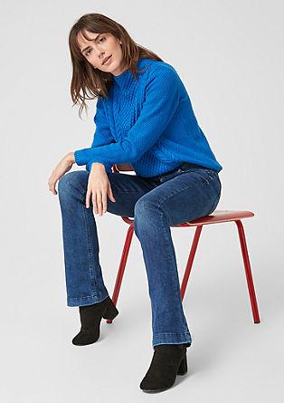 Smart bootcut: jeans met een knoopsluiting