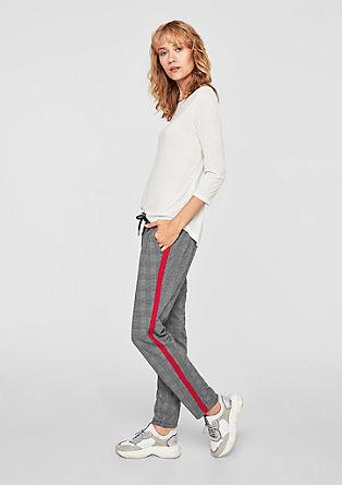 Joggingové kalhoty sglenčekovým kárem