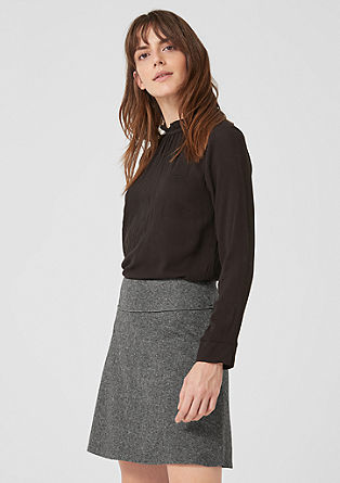 Flared wool fleece skirt from s.Oliver