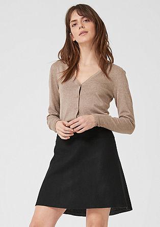 Uitlopende rok van duffel