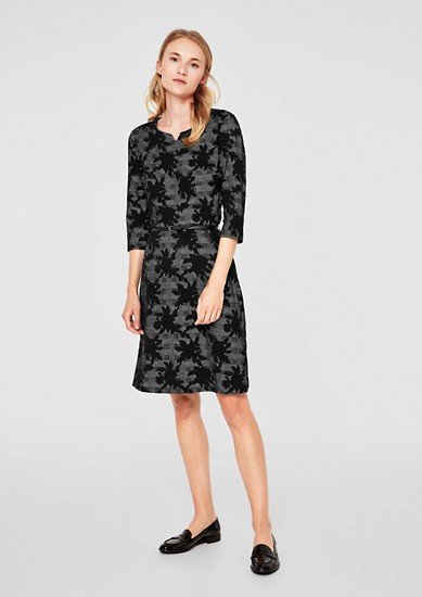 Stretch dress with a jacquard pattern from s.Oliver