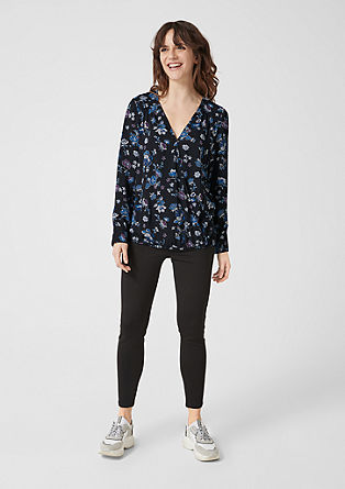 Poplin blouse with all-over print from s.Oliver