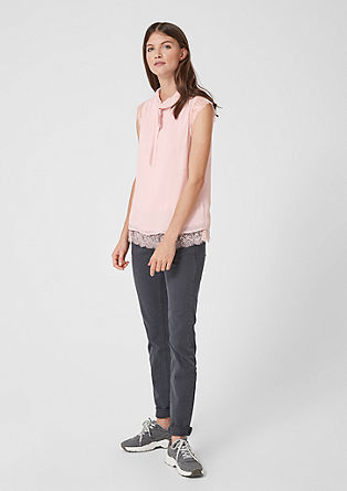 Chiffon blouse top with lace from s.Oliver
