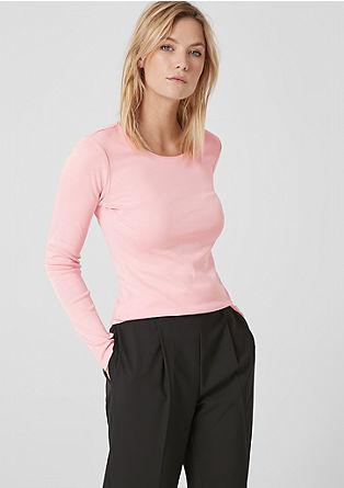 T-shirt basique à manches longues en coton de s.Oliver