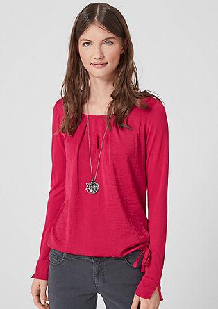 Tričko s dlouhým rukávem a halenkovým předním dílem