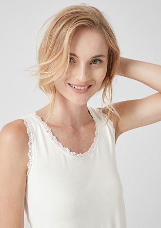 Top with lace edge from s.Oliver