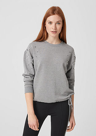 Sweat-shirt à perles fantaisie de s.Oliver