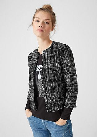 Korte bouclé-blazer
