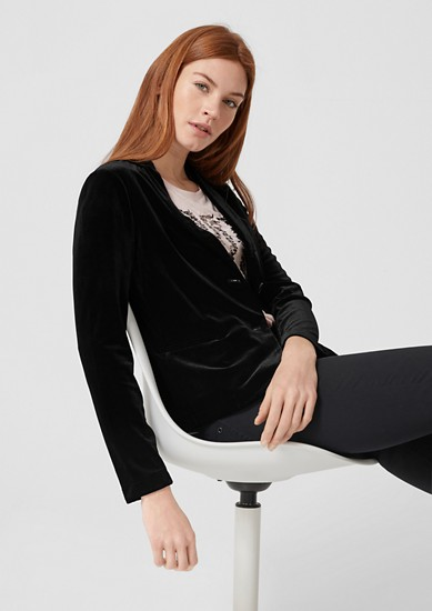 Taillierter Blazer aus Samt