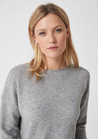 Pletený pulovr se třpytivým efektem