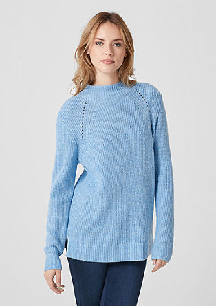 Knitted jumper in blended wool from s.Oliver
