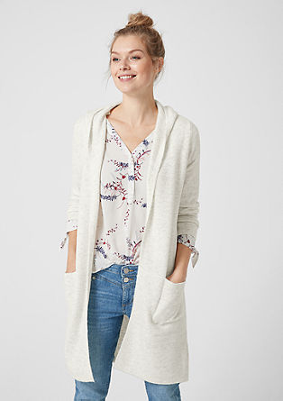 Flauschige Long-Cardigan mit Wolle