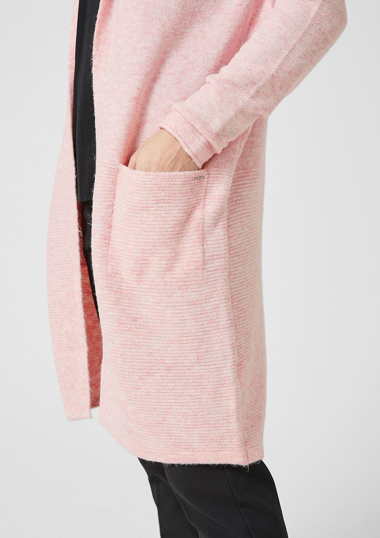 s.Oliver - Cardigan long duveteux à teneur en laine - 5