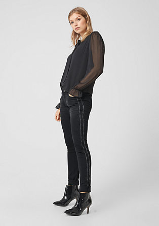 Shape superskinny: jeans met studs