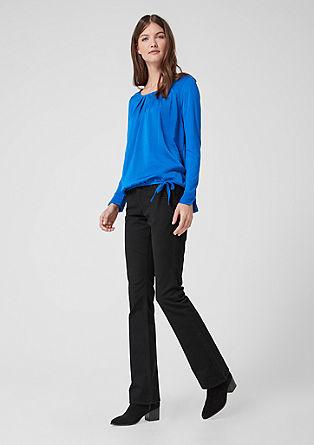 Shape Bootcut: jednobarevné džíny