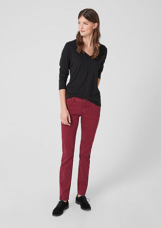 Shape Slim : pantalon en twill stretch de s.Oliver