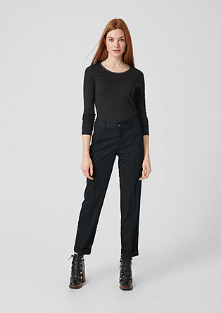 Smart straight: elegante twill broek