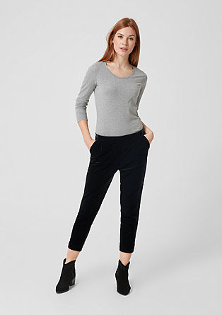 Shape Ankle : pantalon en velours stretch de s.Oliver