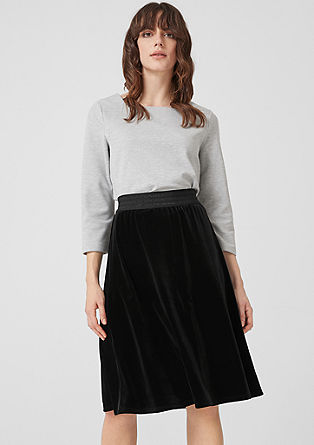 Flared velvet midi skirt from s.Oliver