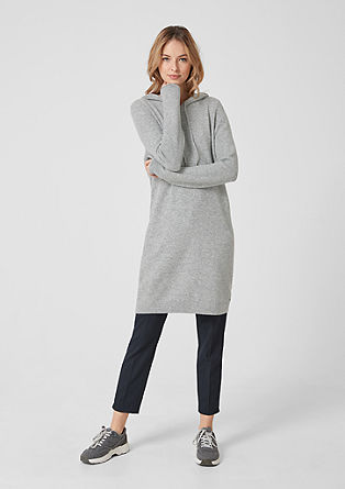 Casual hooded knit dress from s.Oliver