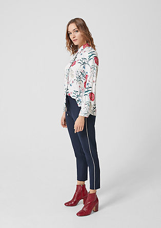 Twill blouse with a floral print from s.Oliver
