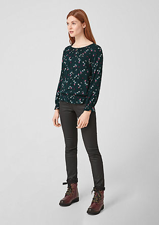 Textured blouse with a printed pattern from s.Oliver