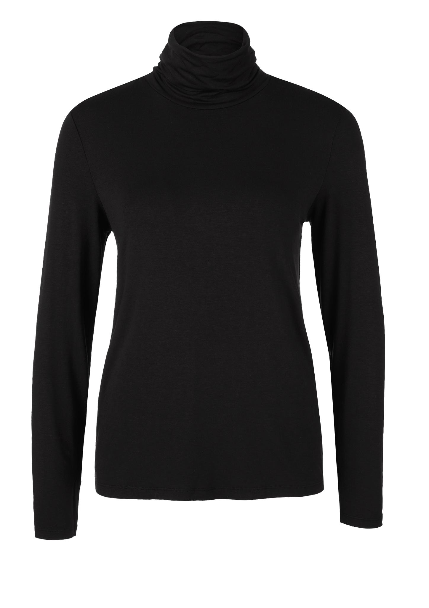Rollkragenshirt | Bekleidung > Shirts > Rollkragenshirts | Schwarz | 95% viskose -  5% elasthan | s.Oliver