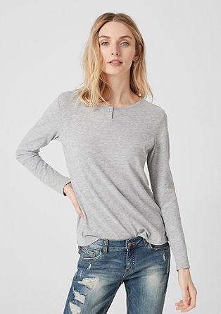 Melírované tričko s dlouhým rukávem